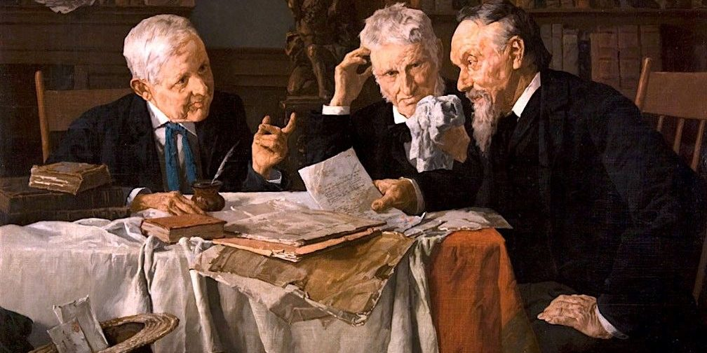 A-Discussion-Louis-Charles-Moeller-Oil-Painting